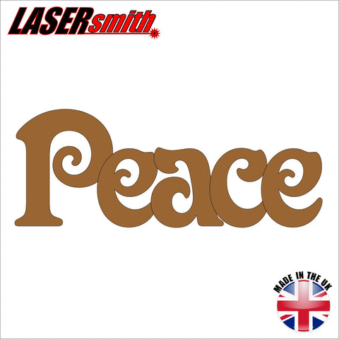 "Wooden Word ""Peace"""