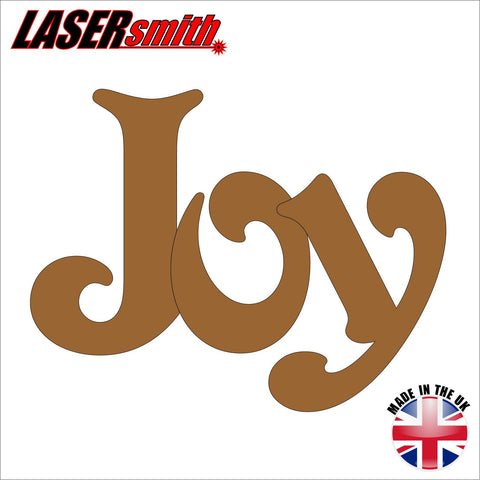 "Wooden Word ""Joy"""