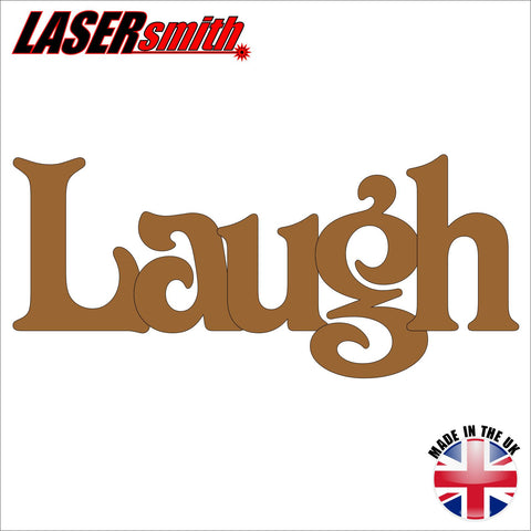 "Wooden Word ""Laugh"""