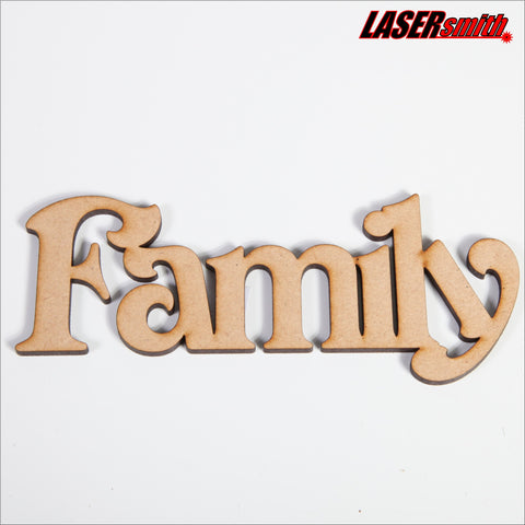 "Wooden Word ""Family"""
