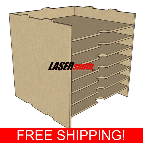 "12 x 12"" Inch Paper Storage Unit for Craft etc fits Ikea Kallax cube storage"