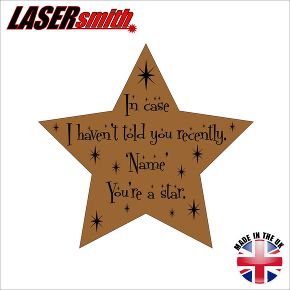 Personalised Engraved Star