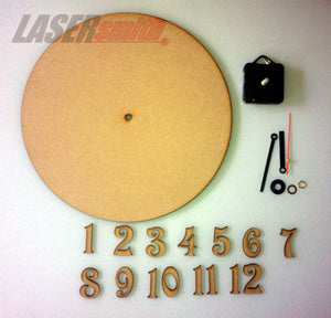 290mm clock making kit - MDF face & numbers