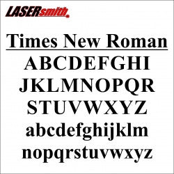 Times New Roman Font Letters And Numbers