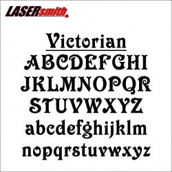 Victorian Font Letters and Numbers