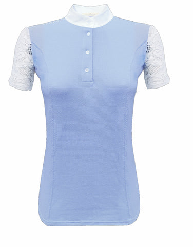 Razzapura Ladies Sky-blue polo shirt