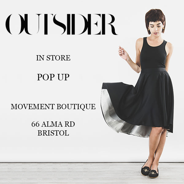 Outisder ethical sustaiable fashion pop up with Movement boutique