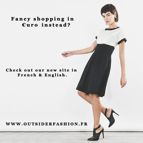 New Outsider site in Euro - ethical fashion