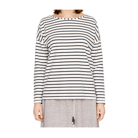 Long sleeve Breton stripe top organic cotton ethical fashion