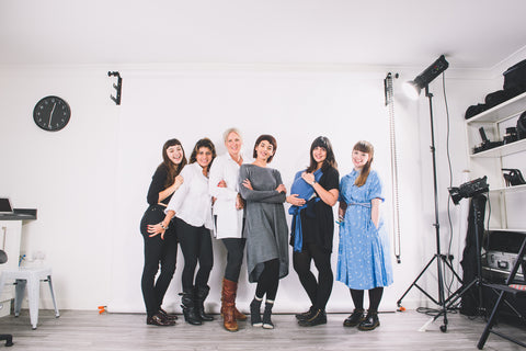 Outsider shoot - Behind the scenes - ethical fashion - team