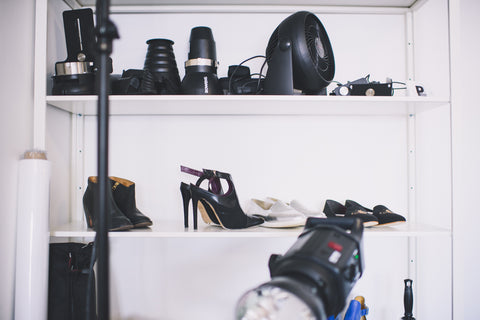 Outsider shoot - Behind the scenes - ethical fashion - Vegan shoes