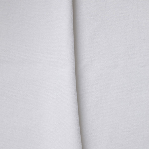 Bamboo organic cotton blend jersey fabric in white3