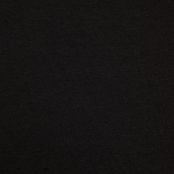 Bamboo organic cotton blend jersey fabric in black2