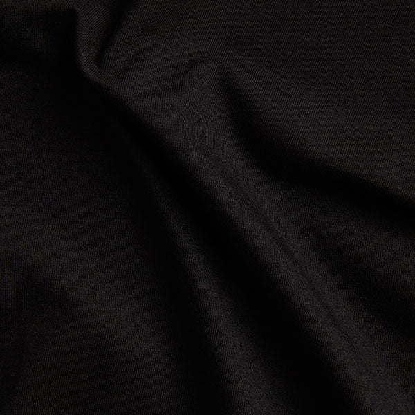 Bamboo organic cotton blend jersey fabric in black