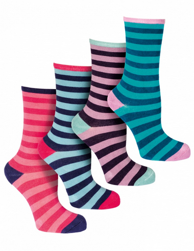 Outsider stripe bamboo socks (pack of four)