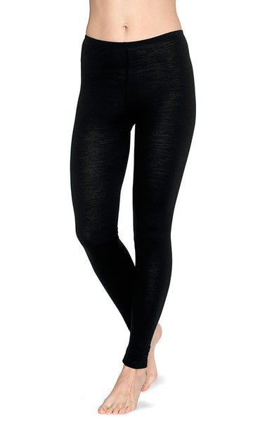 Essential merino wool leggings in black