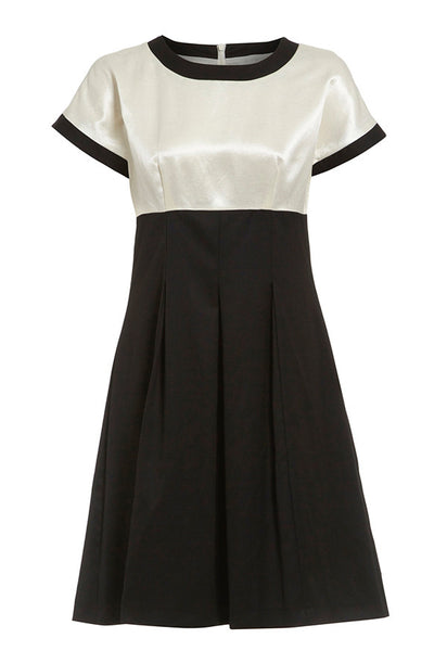 Outsider monochrome shift dress in black and off white
