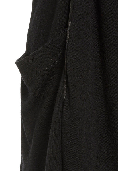 Outsider merino wool satin detail cardigan in black
