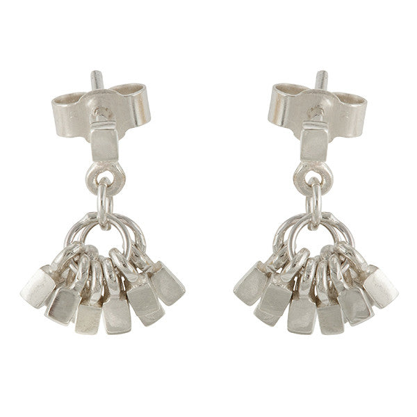 Small tassel earrings in sterling silver