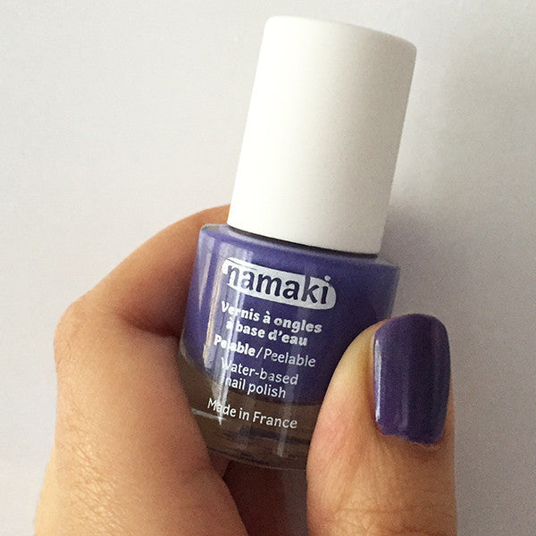 Water-based nail polish in violet purple