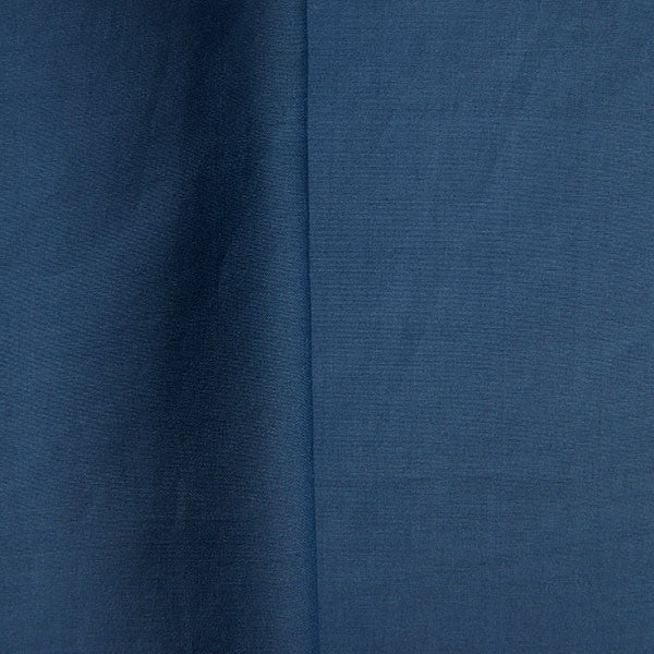 Peace silk organic cotton woven fabric in blue
