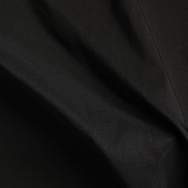 Recycled polyester woven fabric in black