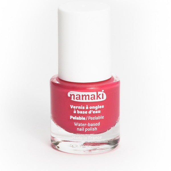 Water-based nail polish in coral