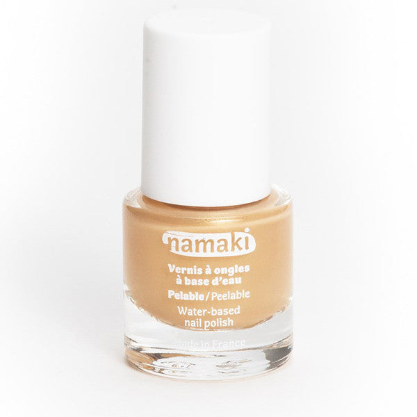 Water-based nail polish in gold