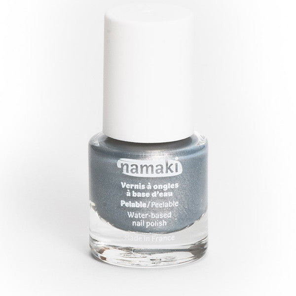 Water-based nail polish in silver