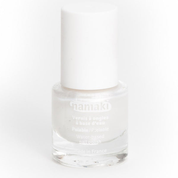 Water-based nail polish in pearly white