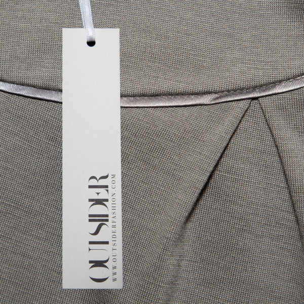 Ethical Fashion by Outsider. Sustainable Fashion using Natural Fabrics - Trousers made from Merino Wool  - in Grey1