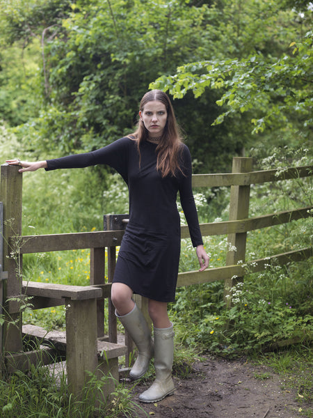 Ethical Fashion by Outsider. Sustainable Fashion using Natural Fabrics - Batwing Dress made from Bamboo and Organic Cotton