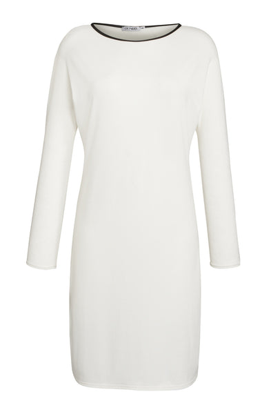 Ethical Fashion by Outsider. Sustainable Fashion using Natural Fabrics - Batwing Dress made from Bamboo and Organic Cotton1 White