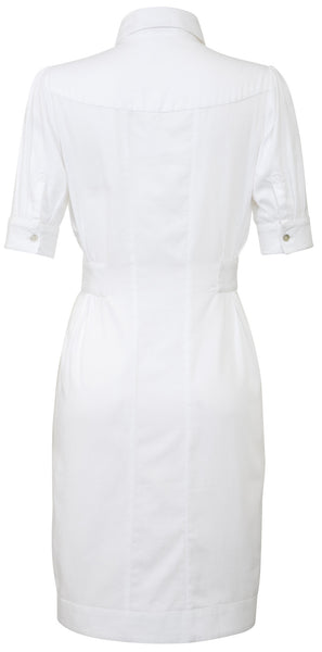 Ethical Fashion by Outsider. Sustainable Fashion using Natural Fabrics - Dress made from Organic Cotton 3 White