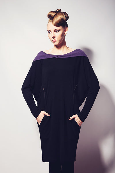 Ethical Fashion by Outsider. Sustainable Fashion using Natural Fabrics - Hoodie Dress made from 100% Merino Wool