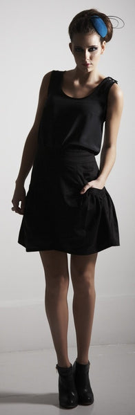 Ethical Fashion by Outsider. Sustainable Fashion using Natural Fabrics - Silk Tank top Black