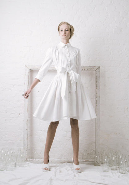 Ethical Fashion by Outsider. Sustainable Fashion using Natural Fabrics - SHIRT Dress made from Organic Cotton