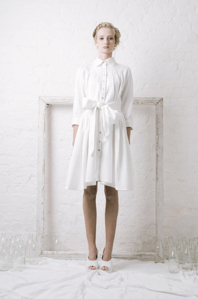 Ethical Fashion by Outsider. Sustainable Fashion using Natural Fabrics - SHIRT Dress made from Organic Cotton1