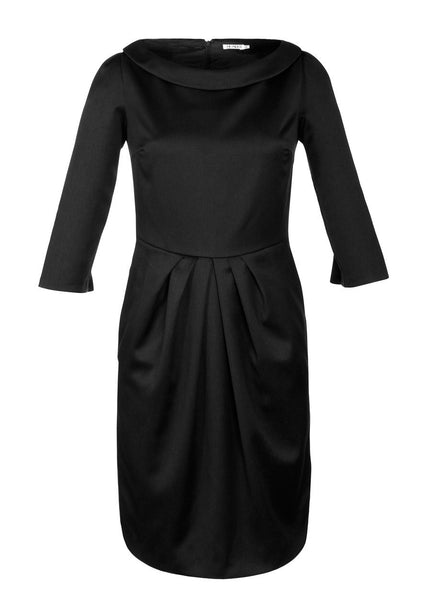 Ethical Fashion by Outsider. Sustainable Fashion using Natural Fabrics - Black Dress made from Merino Wool