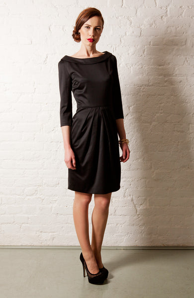 Ethical Fashion by Outsider. Sustainable Fashion using Natural Fabrics - Black Dress made from Merino Wool 4