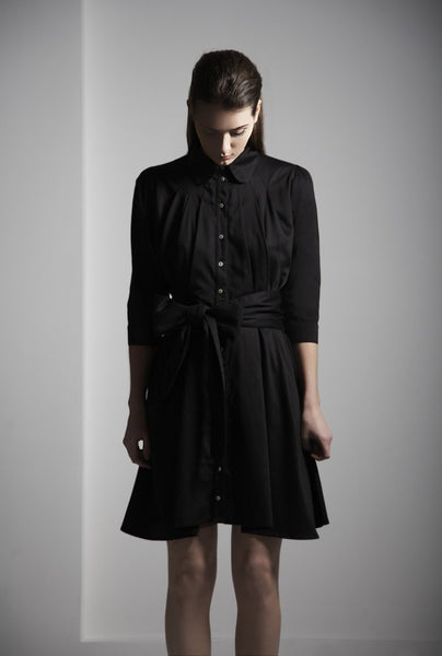 Ethical Fashion by Outsider. Sustainable Fashion using Natural Fabrics - Shirt Dress made from Organic Cotton in Black