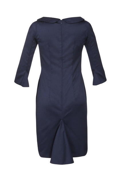 Ethical Fashion by Outsider. Sustainable Fashion using Natural Fabrics - Dress made from Merino Wool in Navy1