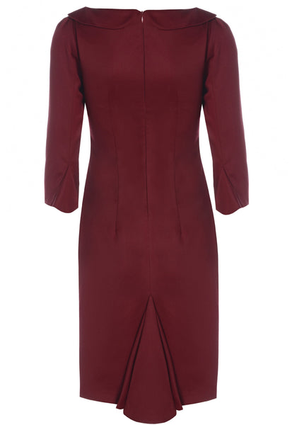 Ethical Fashion by Outsider. Sustainable Fashion using Natural Fabrics - Dress made from Merino Wool in Red 1