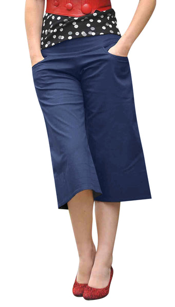 LONG SHORTS - STEELY BLUE SIZE 8 ONLY