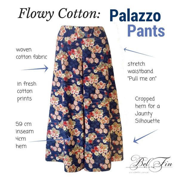 PALAZZO PANTS - HUMMINGBIRDS - ONE LEFT.