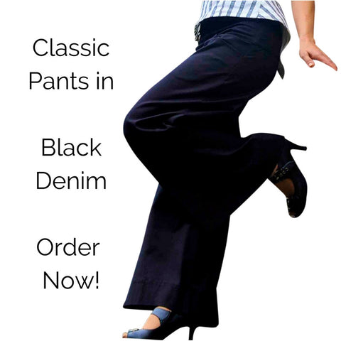 BLACK DENIM Classic pants ORDER NOW.