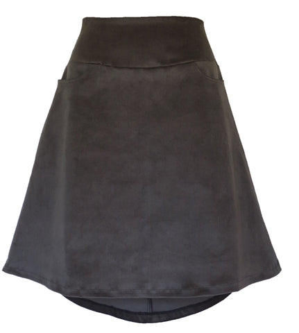 STRETCH CORDUROY ALINE SKIRT