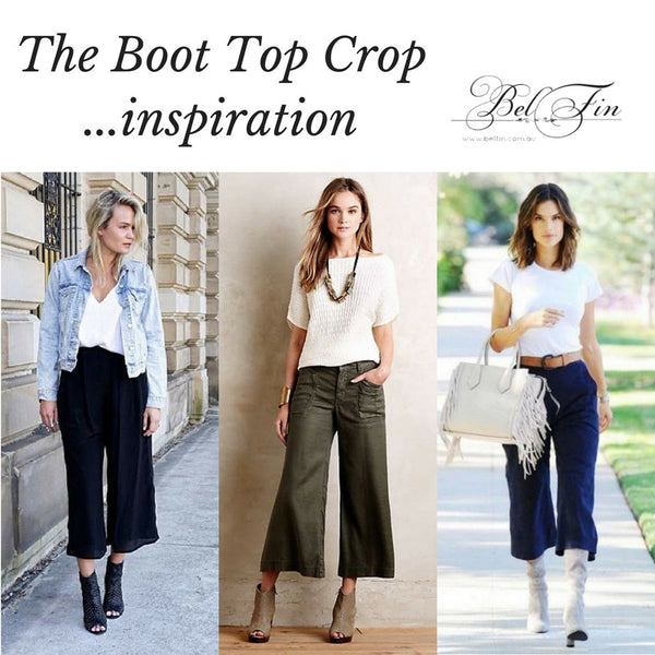 BOOT TOP CROP - OLIVE CORDUROY