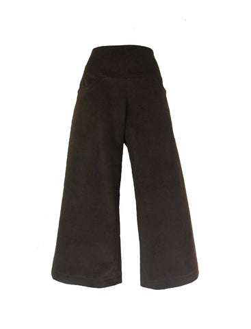 CORDUROY LONG SHORTS - CHOCOLATE