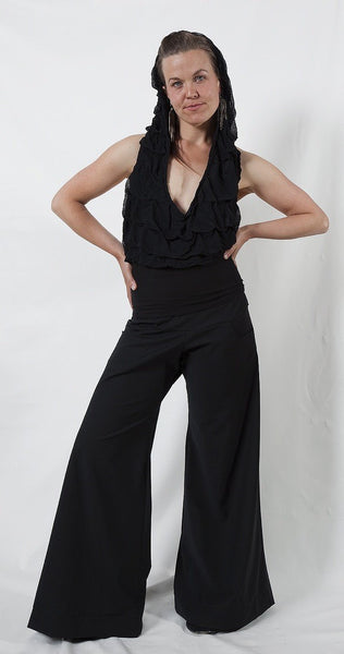 Black CLASSIC PANTS in stretch cotton.
